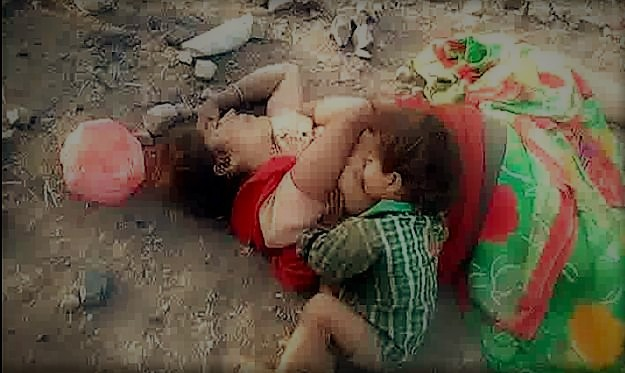 17 Month Old Toddler Found Trying To Drink Milk Of Her Dead Mother In India